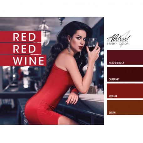 Red Red Wine Collection   Abstract Brush N Color