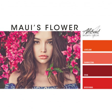 Maui's Flower Collection | Abstract Brush N Color