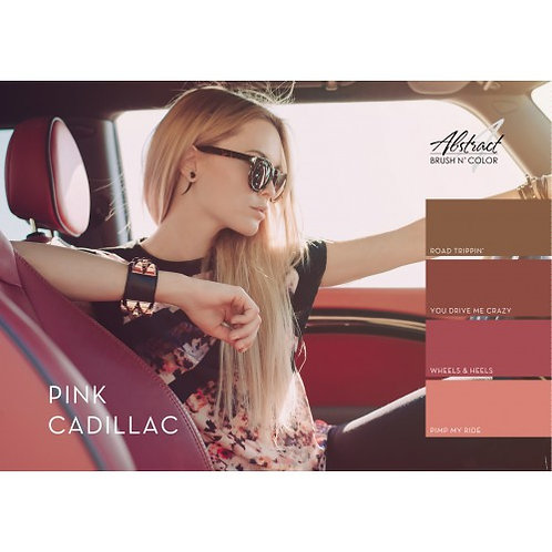 Pink Cadillac Collection | Abstract Brush N Color