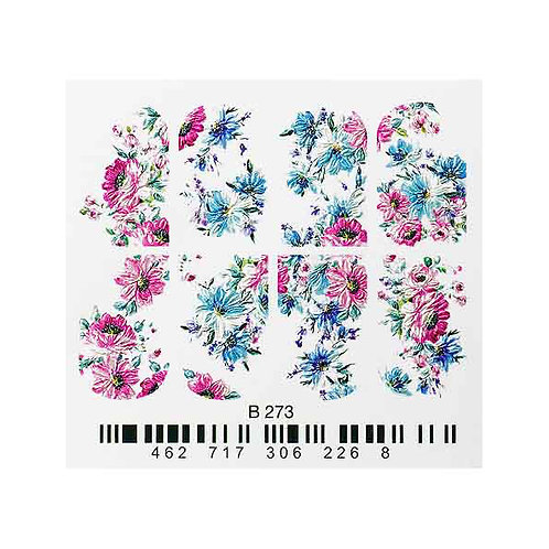B273 floral 3D Waterdecal | Abstract