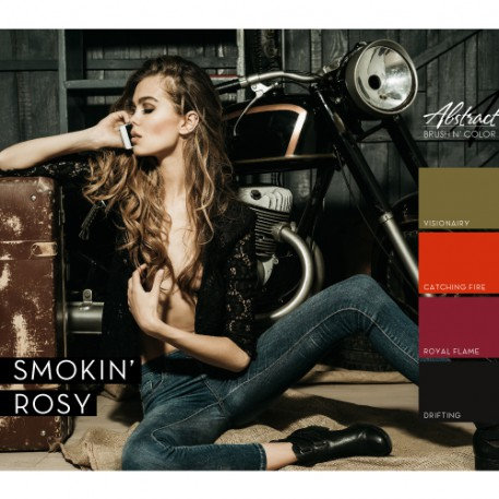 Smokin' Rosy Collection   Abstract Brush N Color