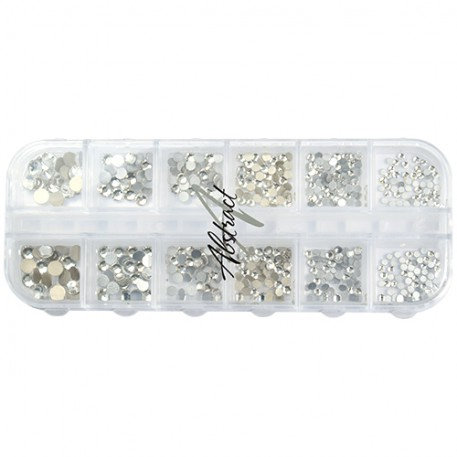 Luxe Tray Rhinestone Silver | Abstract