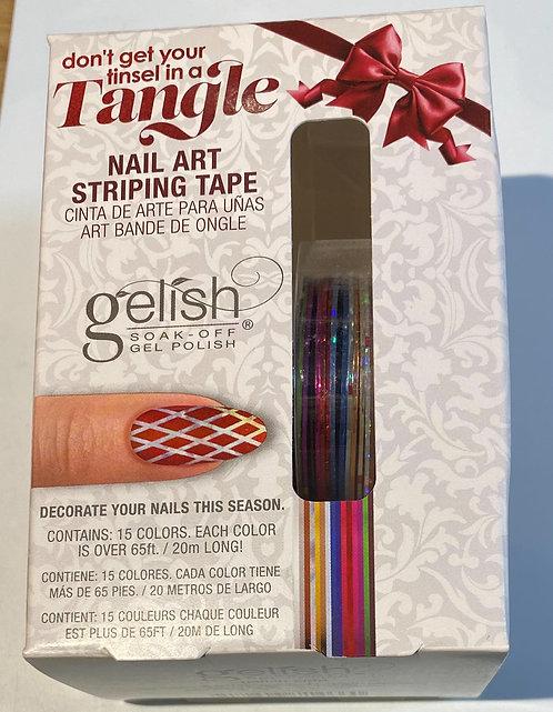 Tangle nail art striping tape / gelish