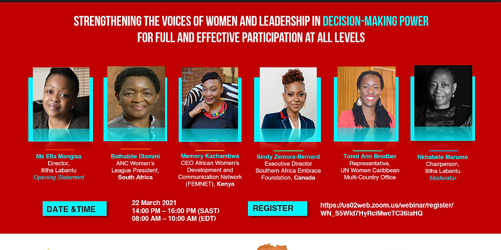 Strengthening the voices of women and leadership in decision-making power ...