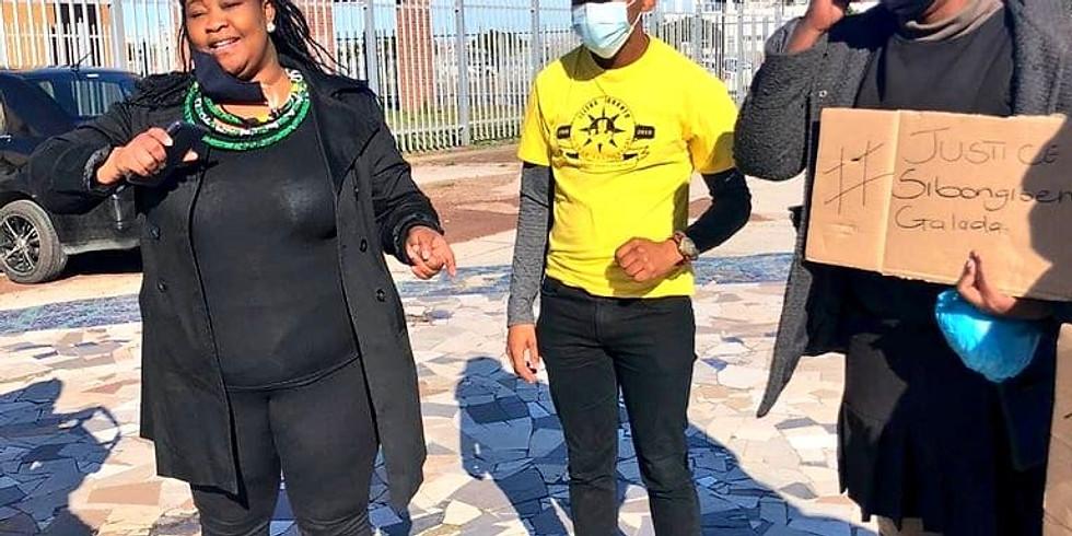 Ilitha Labantu picketing at Khayelitsha Magistrates' Court