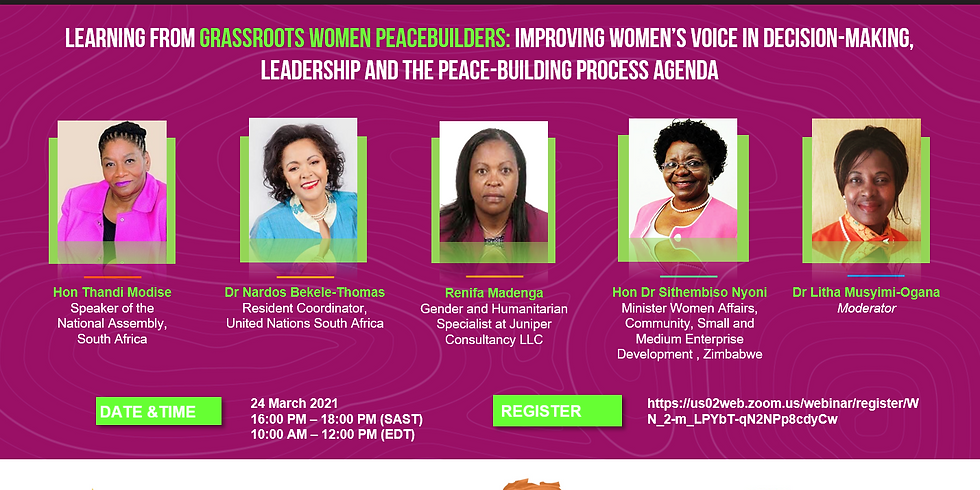 Learning from grassroots women peacebuilders