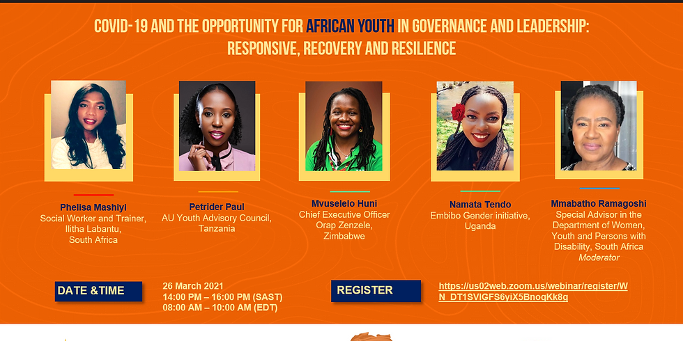 COVID-19 and the opportunity for African youth in governance and leadership: Responsive, Recovery and Resilience