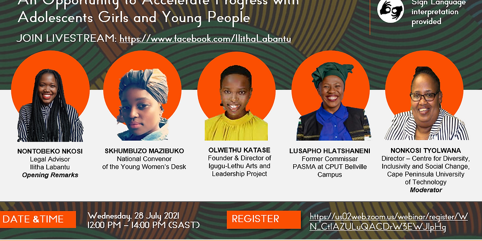Webinar: Adolescent Girls and Young People's education in the Generation Equality