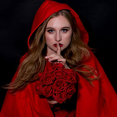 Dark Red Riding Hood & Editorials with Cayce