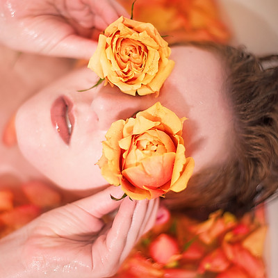 Roses with beautiful Melanie Smith