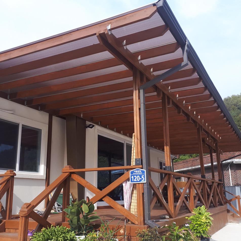 전원주택 캐노피 데크공사