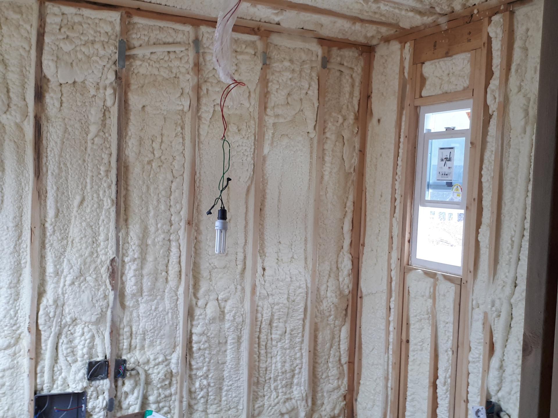 금산군 목조주택 화이트폼 단열