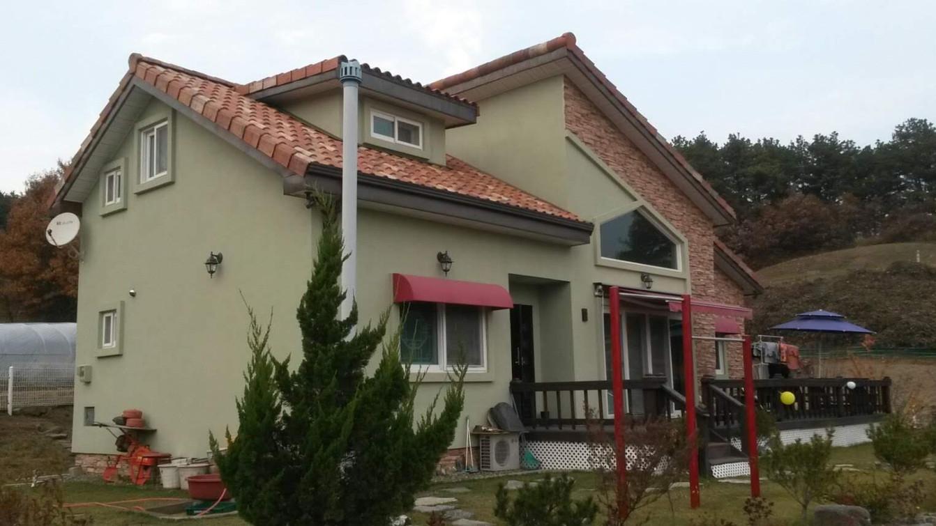 스터코 스페니쉬기와 28평 목조주택