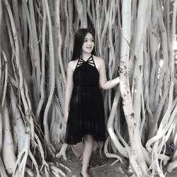 שמלת בת מצווה שחורה פרפר