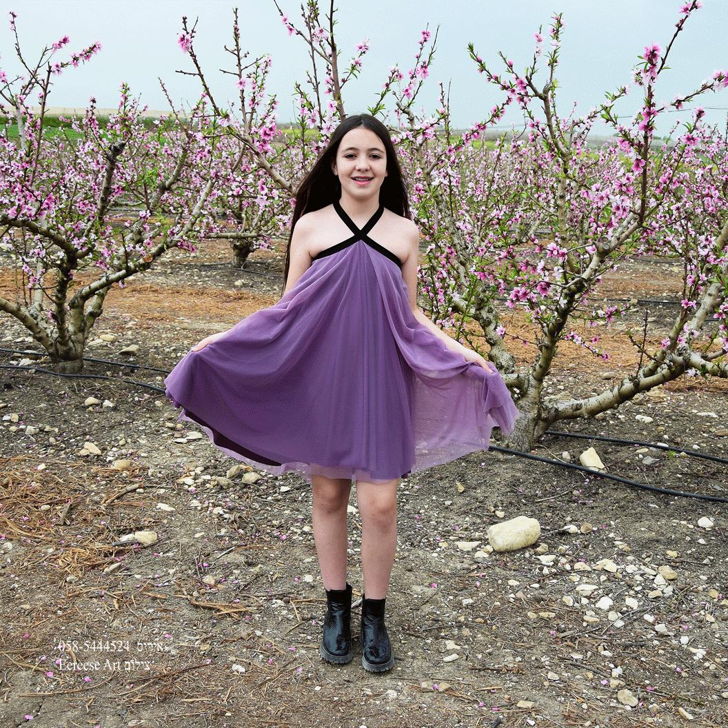 שמלת בת מצווה קולר סגולה