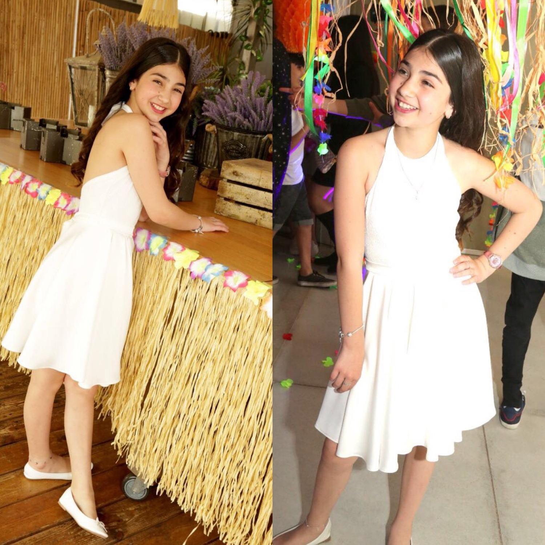שמלת בת מצווה קולר קצרה