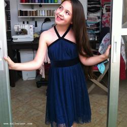 שמלת בת מצווה קולר כחולה