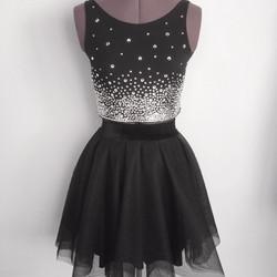 שמלת בת מצווה שחורה מטול