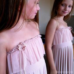שמלת בת מצווה סטרפלס פודרה