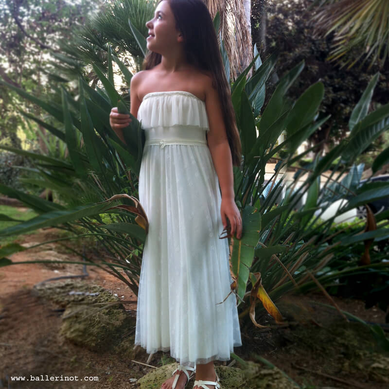 שמלת בת מצווה סטרפלס מקסי
