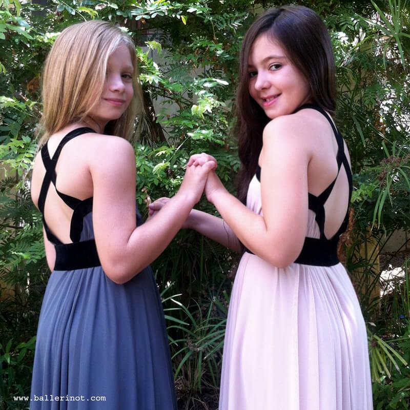 שמלת בת מצווה קולר פודרה וסגול