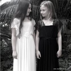 שמלת בת מצווה נסיכה שחור ולבן