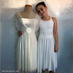 שמלת צמות לבנה