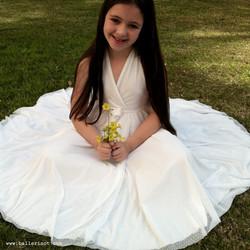 שמלת בת מצווה מרלין לבנה נקודות