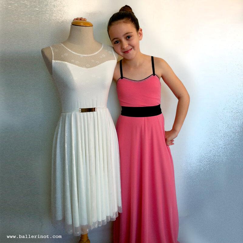 שמלת בת מצווה בלרינה מקסי אפרסק