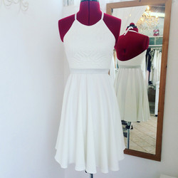 שמלת בת מצווה קולר קצרה גב חשוף
