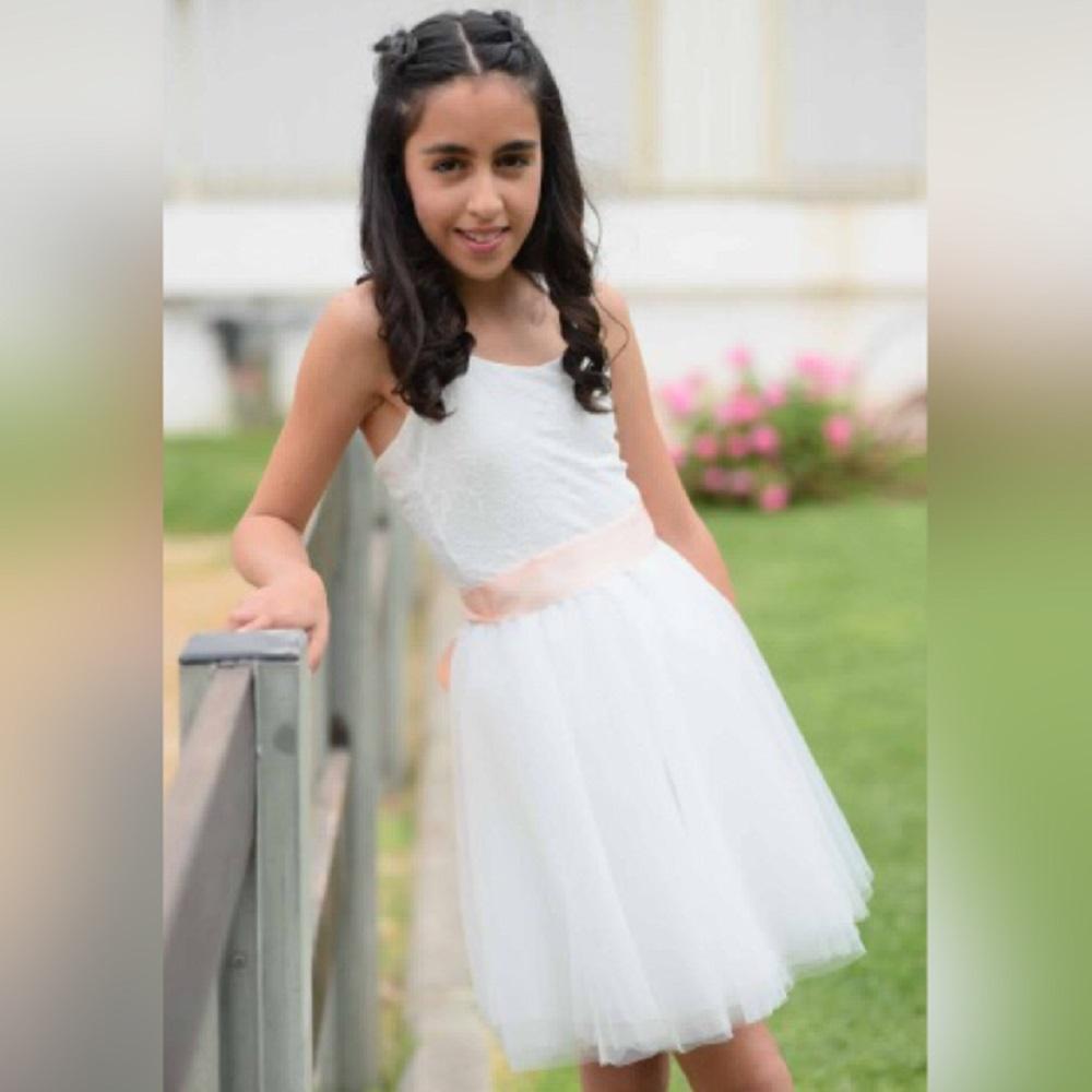 שמלת טוטו לבנה קצרה בגזרת בלרינה