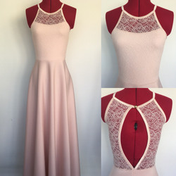 שמלת בת מצווה ארוכה עם גב מתחרה