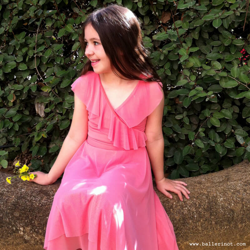 שמלת בת מצווה מעטפה אפרסק