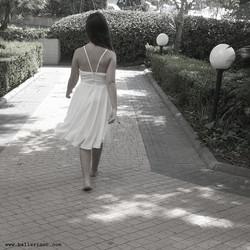 שמלת בת מצווה לבנה משיפון