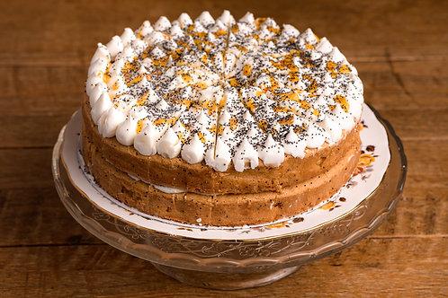 Vegan Citrus fairy cake slice