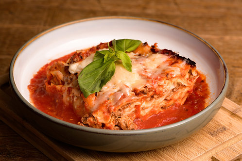 Fresh made lasagne