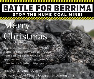 THIS FESTIVE SEASON BEWARE OF COAL MINING COMPANIES BEARING GIFTS