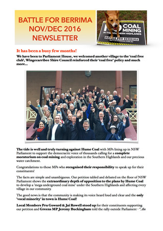 November/December 2016 Newsletter