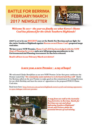 February/March 2017 Newsletter