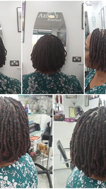 Lock and Twist #twiststyles#afrohairleic