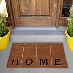 coir Outdoor Door mat with _H O M E_ te