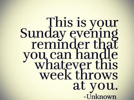 Sunday evening plan....