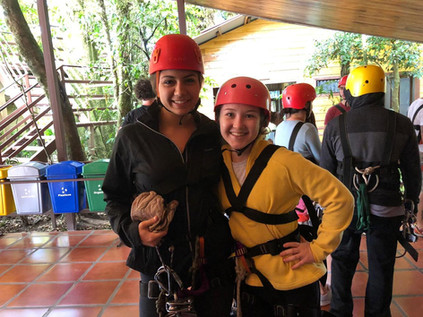 These girls were ready for their zipline ride, are you?