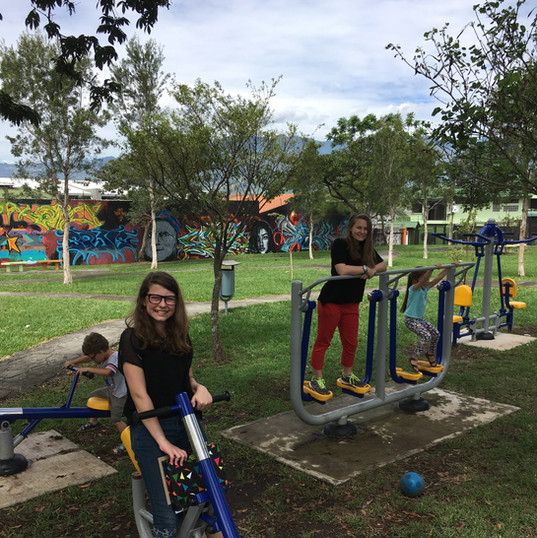 Need to get in a quick workout? Just stop a park! Almost every park has basic gym equipment like in this photo.