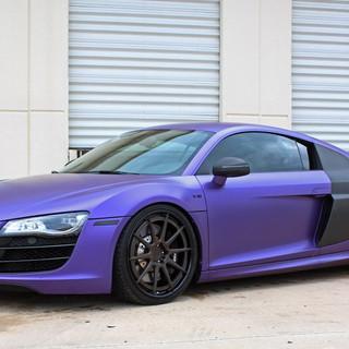 Matte Purple Audi-R8