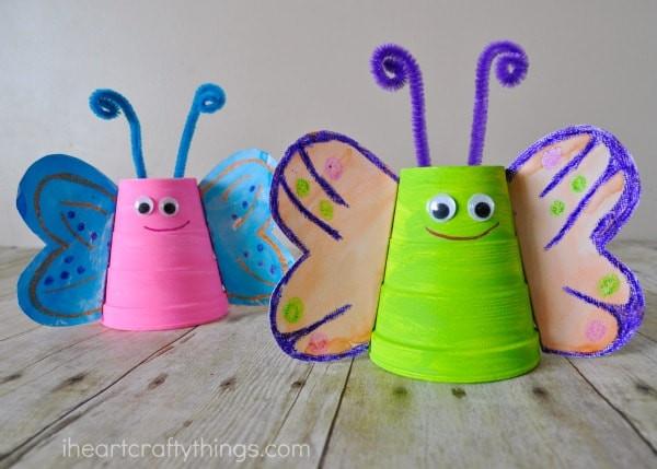 Foam Cup Butterflies