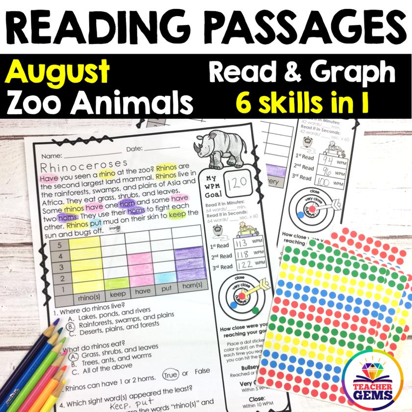 August Reading Passages