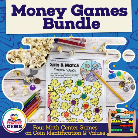 Math Center Money Games & Freebie!
