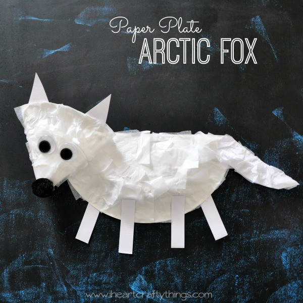Paper Plate Arctic Fox