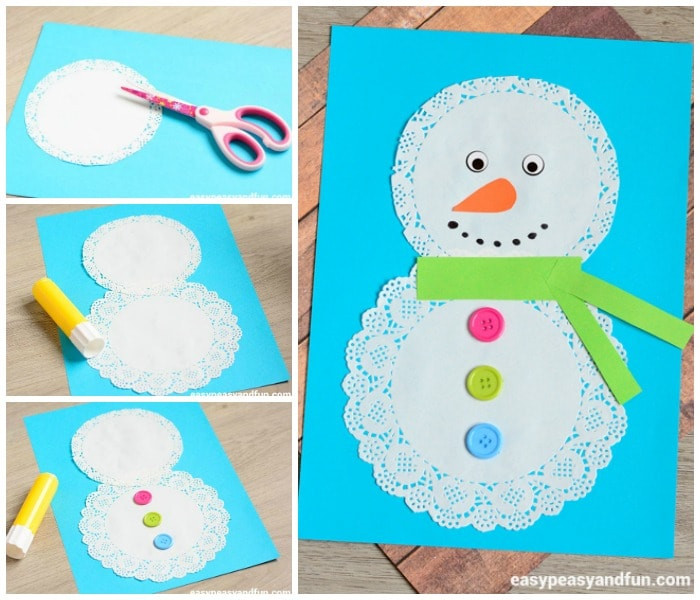 Doily Snowman
